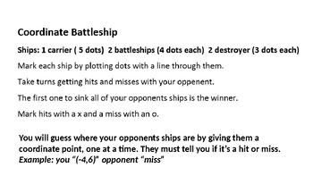 Coordinate battleship powerpoint