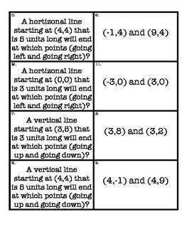Coordinate Grid Matching Activity