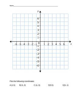 Coordinate grid and ordered pairs quiz