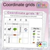 Coordinate & grid references (distance learning worksheets)