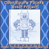Coordinate Points and Ordered Pairs Robot  Printable Dista