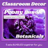 Coordinated Classroom Decor Bundle for PEONY