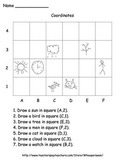 Coordinates Worksheets