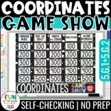 Coordinates Game Show 5th Grade | Coordinate Plane Test Pr