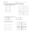 Coordinates & Graphing Practice Test