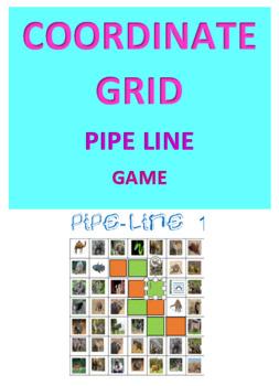 Coordinates Grid Pipe Line Game