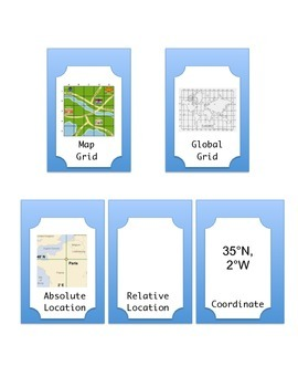 Coordinates, Grids & Locations Interactive Notebook