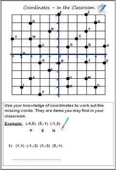 Coordinates - In the classroom