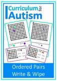 Coordinates Ordered Pairs Autism Special Education