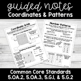 Coordinates & Patterns GUIDED NOTES