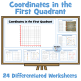 Coordinates in the First Quadrant Worksheets