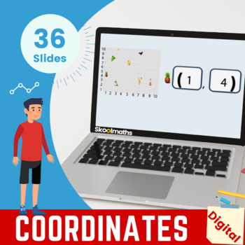 Coordinates in the First Quadrants -3rd grade, key stage 2, year 4