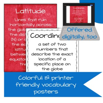 Coordinates of the United States | Latitude and Longitude Practice | Digital
