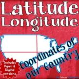 Coordinates of the United States   Latitude and Longitude