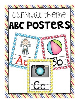 Coordinating Carnival Theme ABC Posters