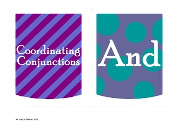 Coordinating Conjunctions Banner or Poster