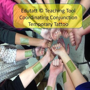 Coordinating Conjunction: Edutatt (c) Educational Temporary Tattoo