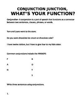Coordinating Conjunction Practice