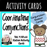 Coordinating Conjunction and Comma Activity Cards (NEW ELAR TEKS)