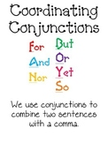 Coordinating Conjunctions Anchor Chart