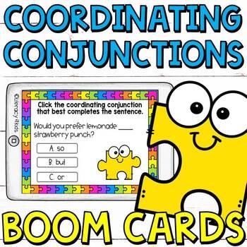Coordinating Conjunctions Boom Cards (digital task cards)