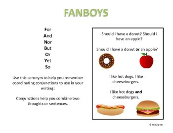 Coordinating Conjunctions - Combining Thoughts Using FANBOYS
