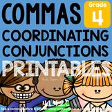 Coordinating Conjunctions & Commas L.4.2.C Worksheets Dist