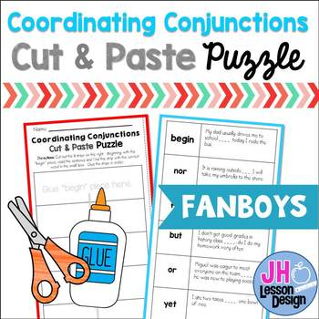 Coordinating Conjunctions Cut & Paste Puzzle