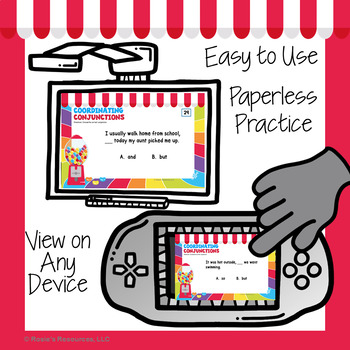 Coordinating Conjunctions Digital Task Cards