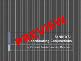 Coordinating Conjunctions: FANBOYS PowerPoint and PDF
