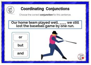 Coordinating Conjunctions ... Grammar: DIGITAL BOOM™ Internet Task Cards