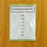 Coordinating Conjunctions List Poster