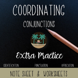Coordinating Conjunctions Practice Worksheets: FANBOYS