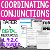 Coordinating Conjunctions - Reference and Practice PDF - L.4.2.c - FANBOYS