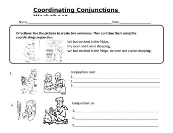 Coordinating Conjunctions Review