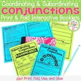Coordinating Conjunctions Subordinating Conjunctions Interactive Notebook