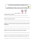 Coordinating Conjunctions Worksheet