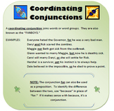 Coordinating Conjunctions Writer's Notebook Entry