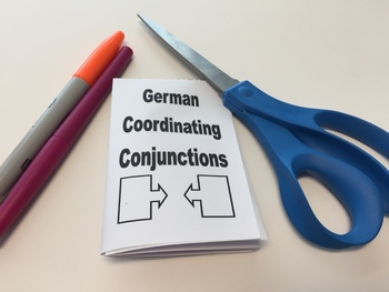 Coordinating Conjunctions in German - Foldable Mini Booklet
