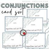 Coordinating, Correlative, and Subordinate Conjunctions Card Sort