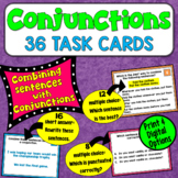 Combining Sentences w/ Coordinating and Subordinating Conjunctions:  Task Cards