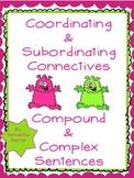 Coordinating & Subordinating Connectives - UK Version