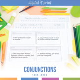 Coordinating and Correlative Conjunctions: Task Cards