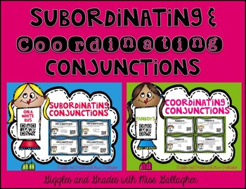 Coordinating and Subordinating Conjunctions Bundle (L.3.1h)