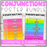 Coordinating and Subordinating Conjunctions Poster Set