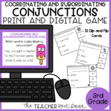 Coordinating and Subordinating Conjunctions Game Center Activity