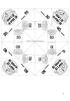 Cootie Catcher - 10 More 10 Less ~New!~