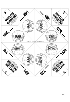 Cootie Catcher - 10 More/Less & 100 More/Less ~New!~