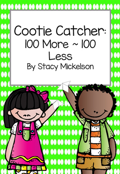 Cootie Catcher - 100 More 100 Less ~New!~