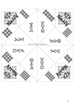 Cootie Catcher - Arrays to 5x5 ~New!~